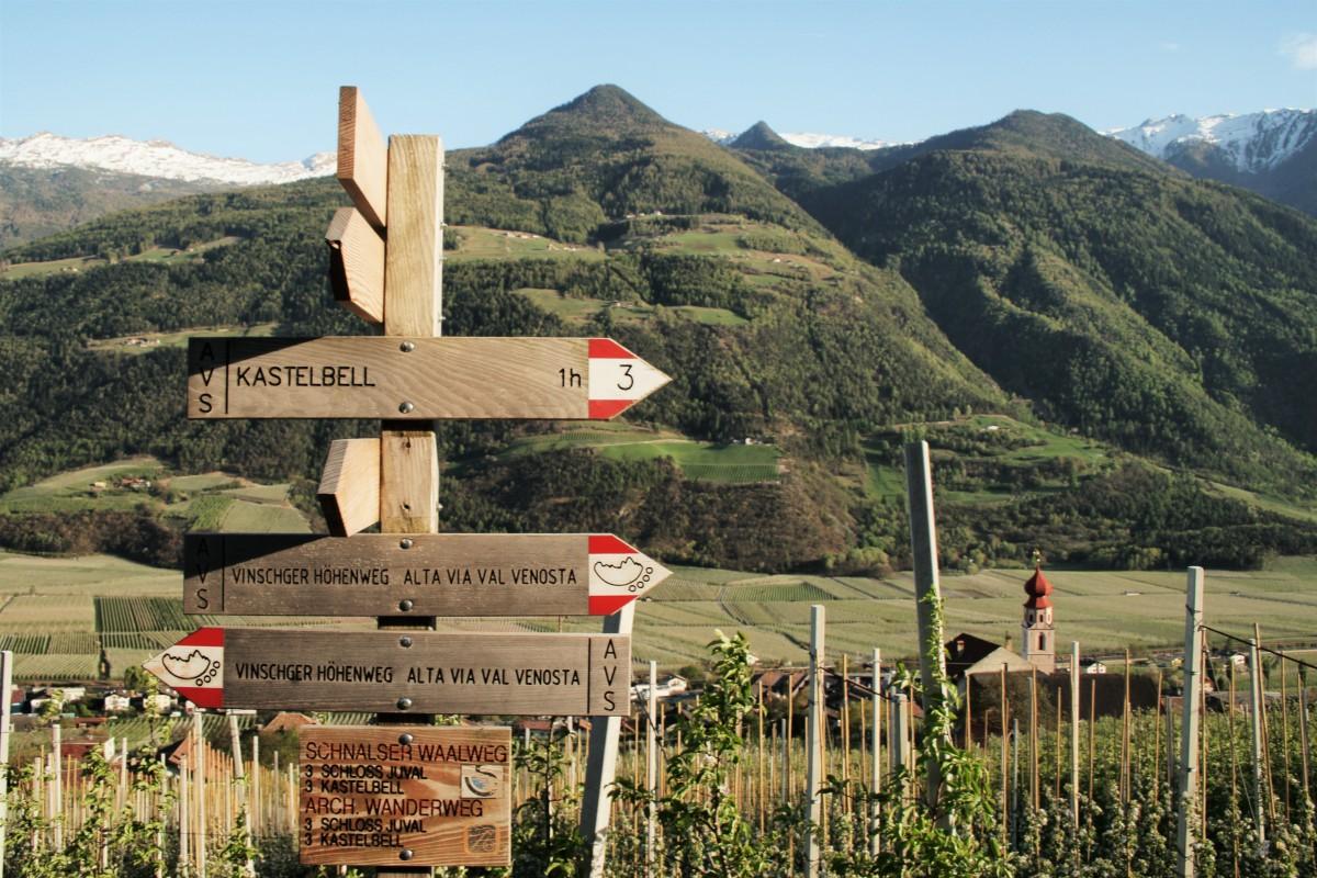Die Wege in Südtirol sind überall gut beschildert, der Urlaub in den Bergen ist somit entspannt.