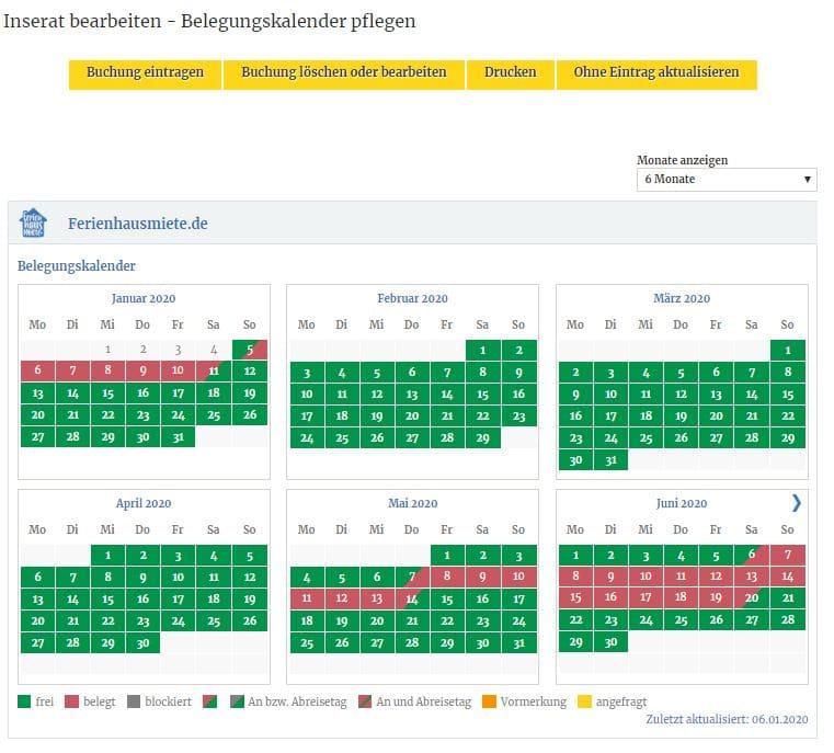 Der Belegungskalender ist eine der wichtigsten Orientierungspunkte für mögliche Interessenten und sollte regelmäßig aktualisiert werden.