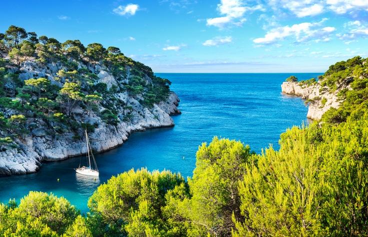 Calanque von Port Pin bei Cassis in Frankreich.