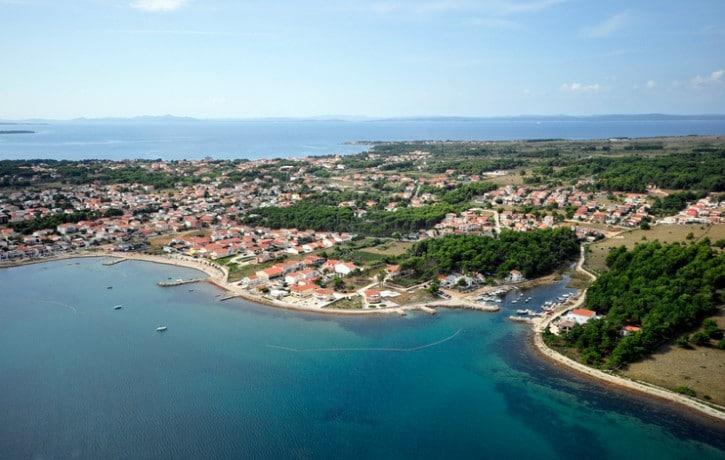 Aerial photo of island Vir in Croatia