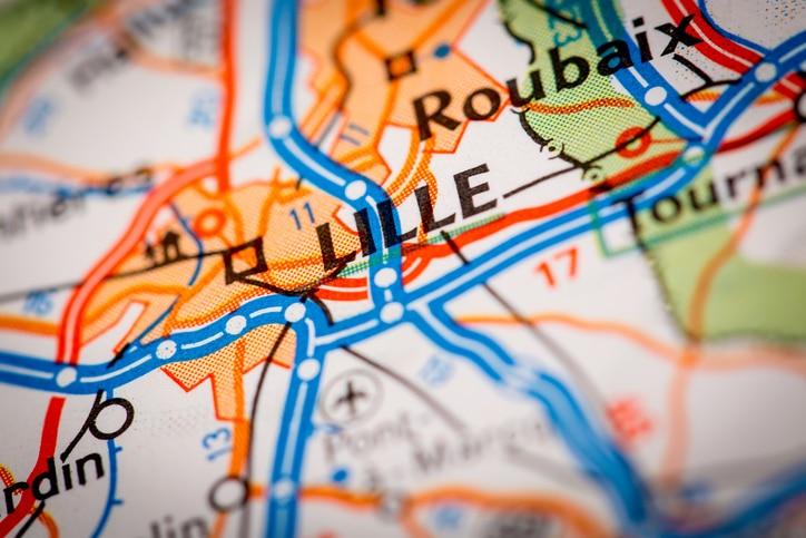 Landkarte Lille Nord Pas de Calais