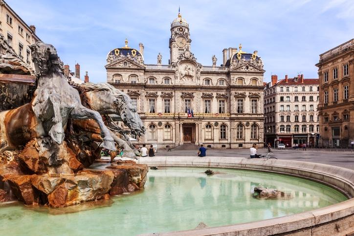 Place des Terreaux in Lyon.
