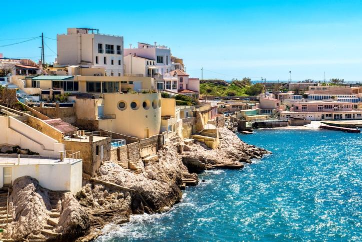 Ferienwohnungen an der Küste von Marseille.