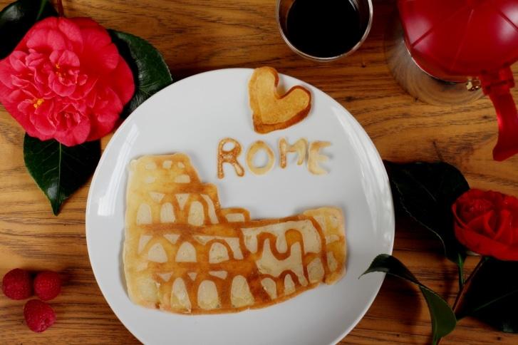 Welche Mutter würde sich nicht über einen derart verheißungsvollen Pfannkuchen zum Muttertag freuen?