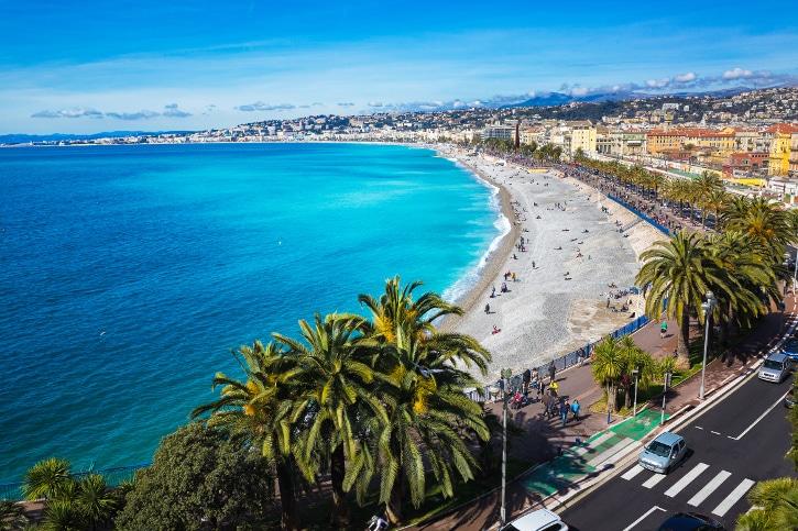 Promenade des Anglais bei Nizza.