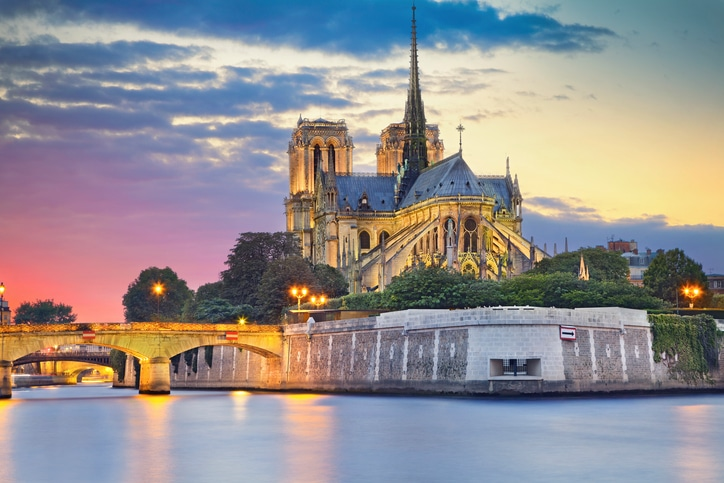 Notre Dame Cathedral in Paris, Frankreich.