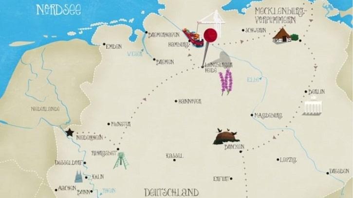 Pinipas Abenteuer Deutschlandkarte