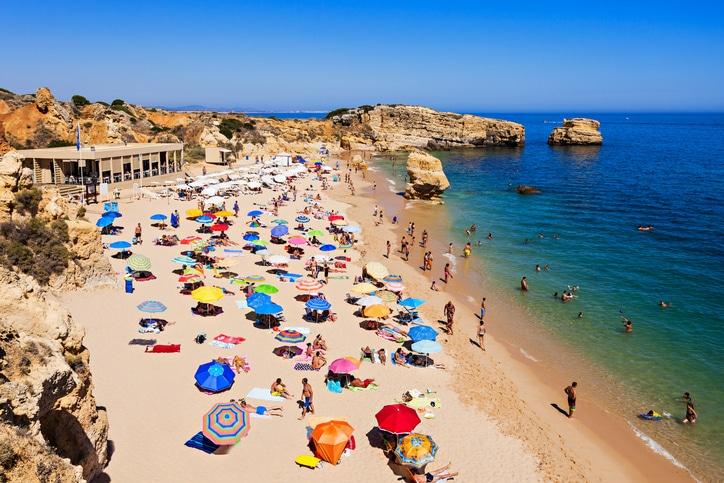 Sao Rafael Strand in Albufeira an der Algarve