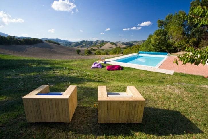 Bauernhaus bei Cagli in Marken Italien