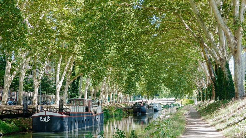 """Canal du Midi"" in Toulouse, France"