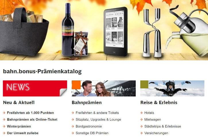Deutsche Bahn Prämienpunkte Bonusprogramm