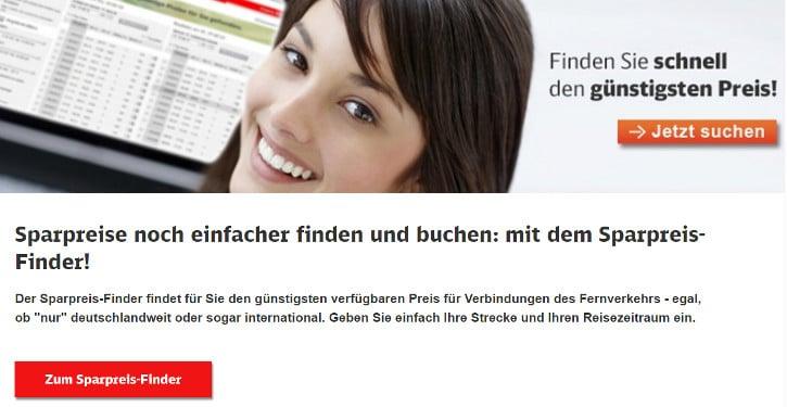 Sparpreisfinder Deutsche Bahn