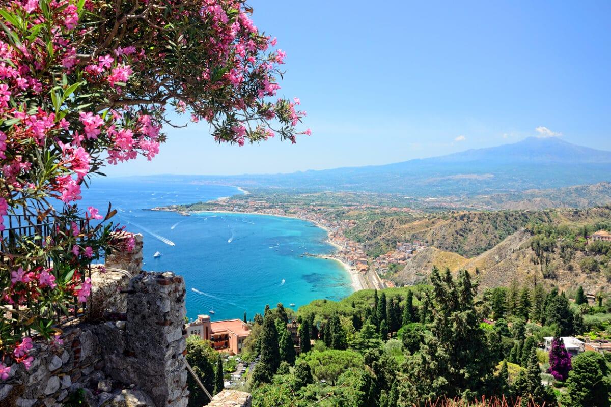 Bucht auf Sizilien