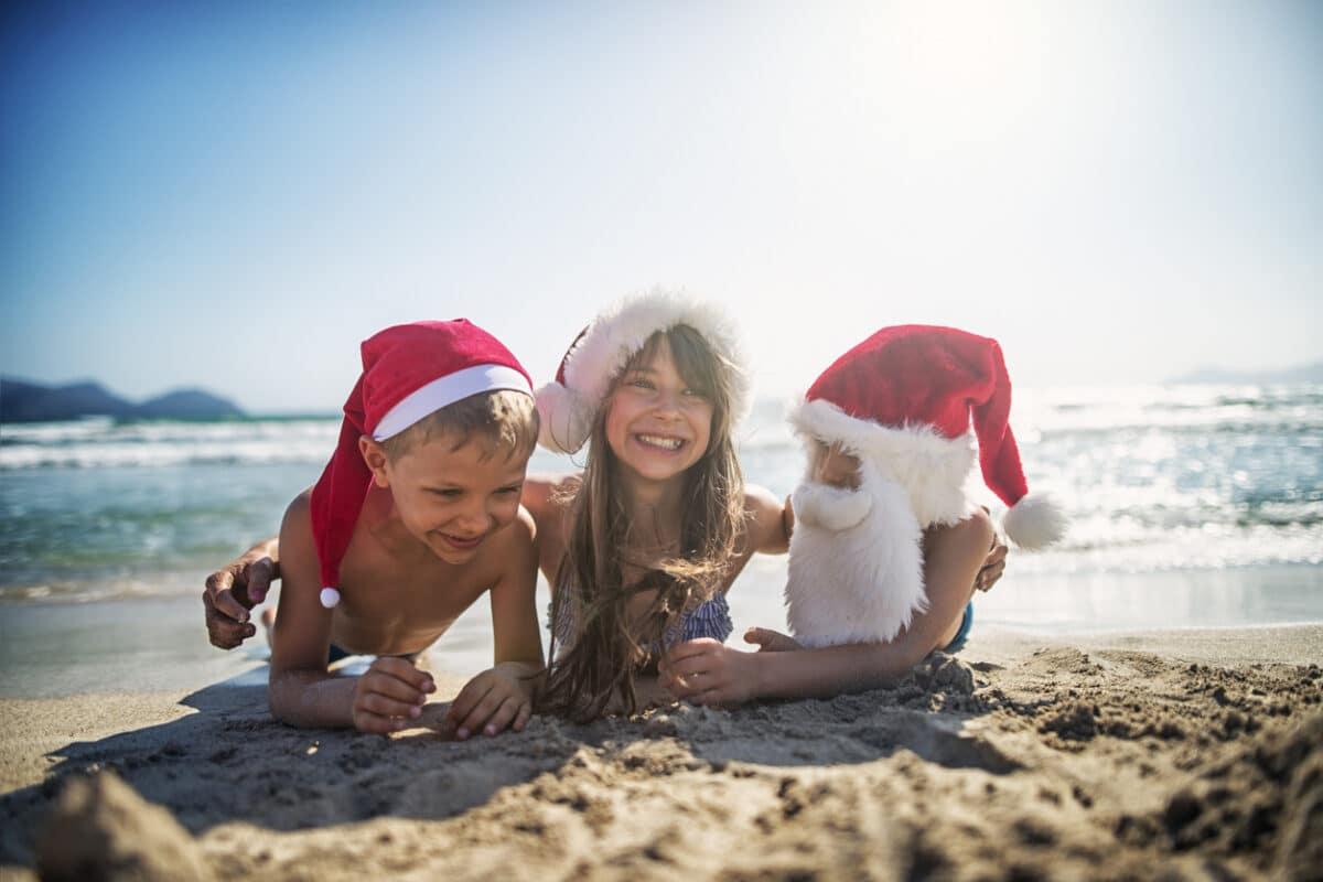 Weihnachtsurlaub am Strand