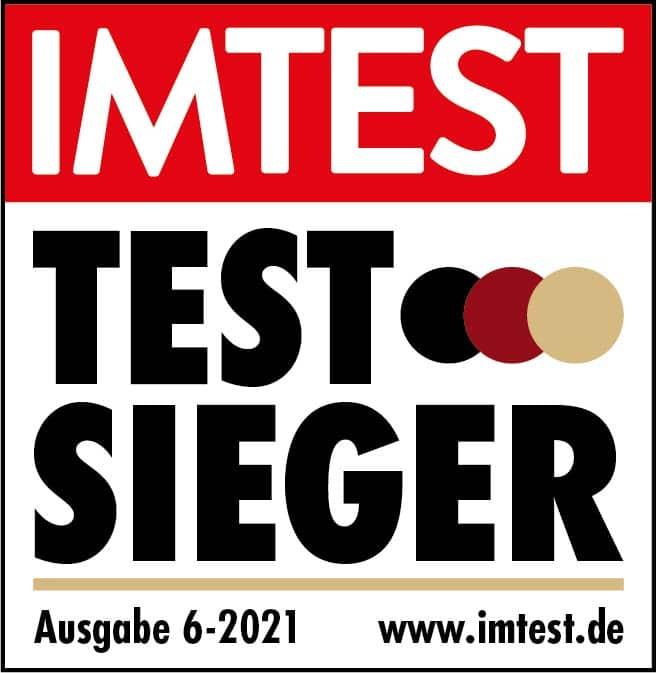 Testsieger beim Verbrauchermagazin IMTEST